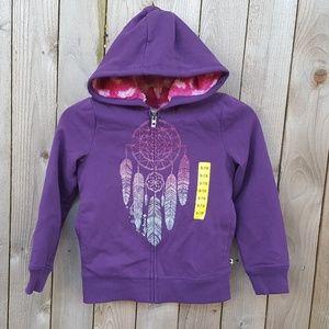 Lucky Brand Girls Hoodie Full Zip Plush Lined
